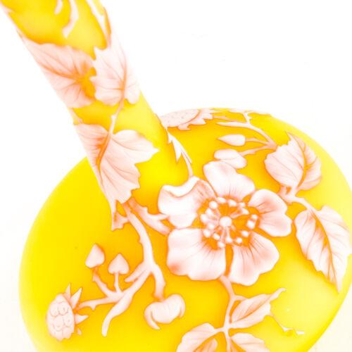 Small Thomas Webb & Sons Tri-Color Cameo Glass Flower Vase English 19th Century