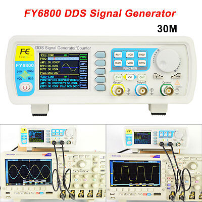 Fy6800-30m Dds Functional Signal Generator Dual-channel Pulse Arbitrary Waveform