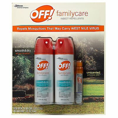 OFF Insect Repellent Family Care 3 Pack Smooth and Dry Powder Dry Formula ()