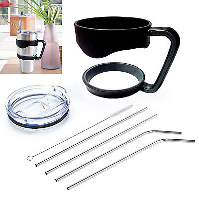 Handle For 30 Oz YETI Tumbler Rtic Sic Cup Holder Rambler Spill proof Lid Straw