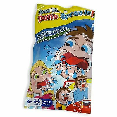 Say It Game (Say It Don't Spray It Mouthpiece Kids Board Game Family Travel Holiday Pack)