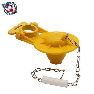 FlushLine Universal Toilet Tank Flapper Yellow Wasp X BCT010 Siliconized 2-inch Bath