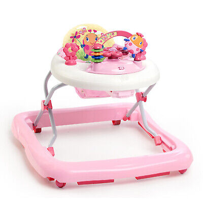 Bright Starts JuneBerry Baby Walker With Activity Station Girl Walk Pink w/ Play