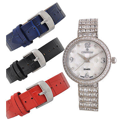 Croton Women's CN207555RHMP Quartz Crystal Accents Interchangeable Bands Watch