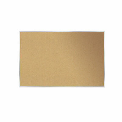 Ghent Natural Cork Bulletin Board With Aluminum Frame 4h X 8w 1 Ea