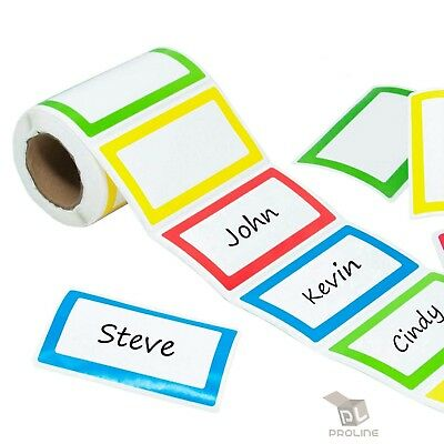 500 - Colorful Name Tag Self-Adhesive Labels  Stickers School Office Camps Party
