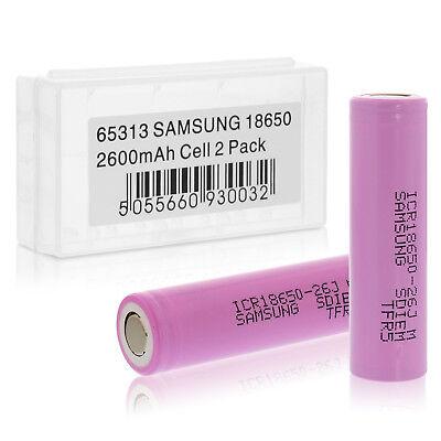 Samsung ICR 18650 26J Li-Ion Akku 2600 mAh 3,7V Akkubox E-Zigarette etc. 65313
