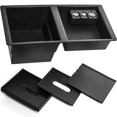 Center Console Organizer Tray Fits 14-19 GM Suburban for Front Floor Insert Lid ()