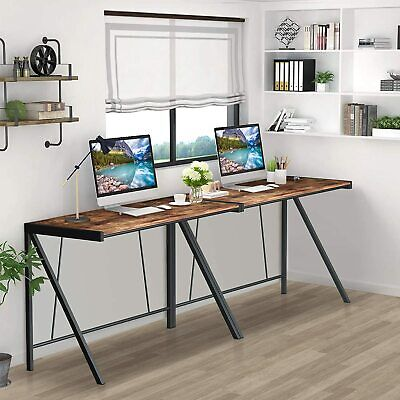 Computer Desk with Trapezoidal Structure & Metal Block Support, 39″ Student Desk Furniture