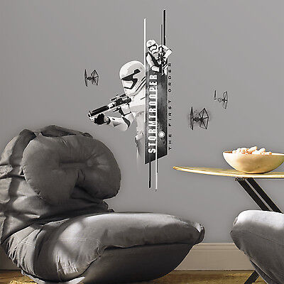 New STORM TROOPER WALL DECALS Star Wars the Force Awakens Stickers Room Decor - Star Wars Bedroom Decorations