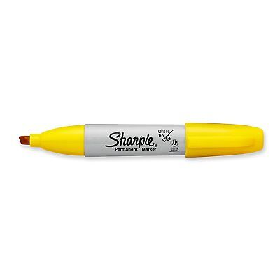 Sharpie Permanent Marker Chisel Tip Yellow Each