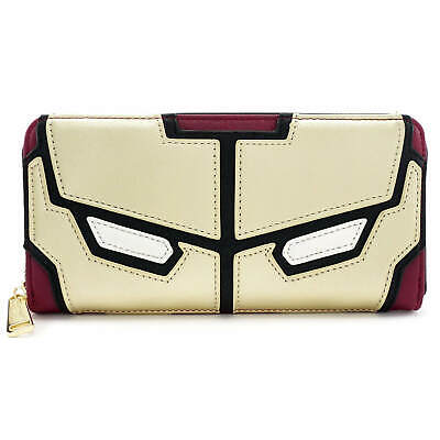 Official Loungefly x Marvel Iron Man Zip Around Purse Wallet New