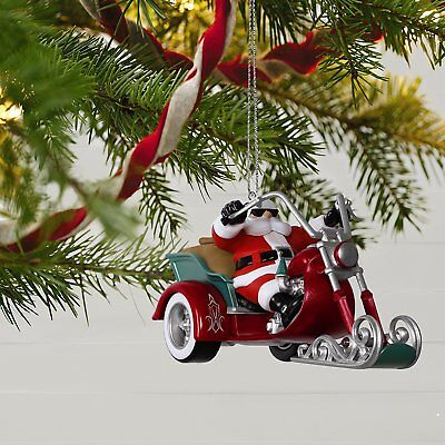 2017 Hallmark Leader Of The Pack Magic Ornament  Santas Ride  Motorcycle Dreams