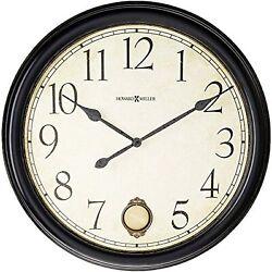 Howard Miller Glenwood Falls Gallery Wall Clock 625-444  Oversized Black Satin