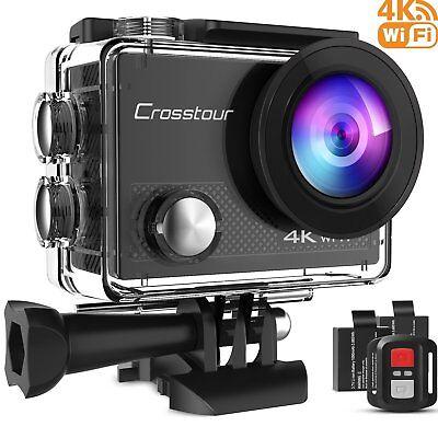 Crosstour 4K 16MP Action Cam WIFI Subacquea Ultra HD Sport Action Camera 170°...
