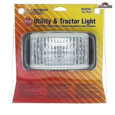 3 X 5 Utility Tractor Light Rectangle Fog Light New