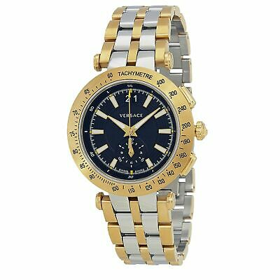 Versace VAH020016 Men's V-RACE Two-Tone Quartz Watch