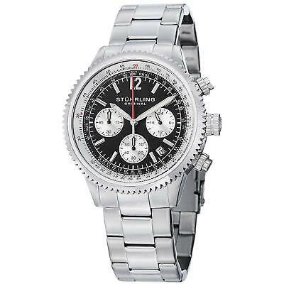 Stuhrling Monaco 669B Men's 42mm Chronograph krysterna Quartz Date Watch 669B.01