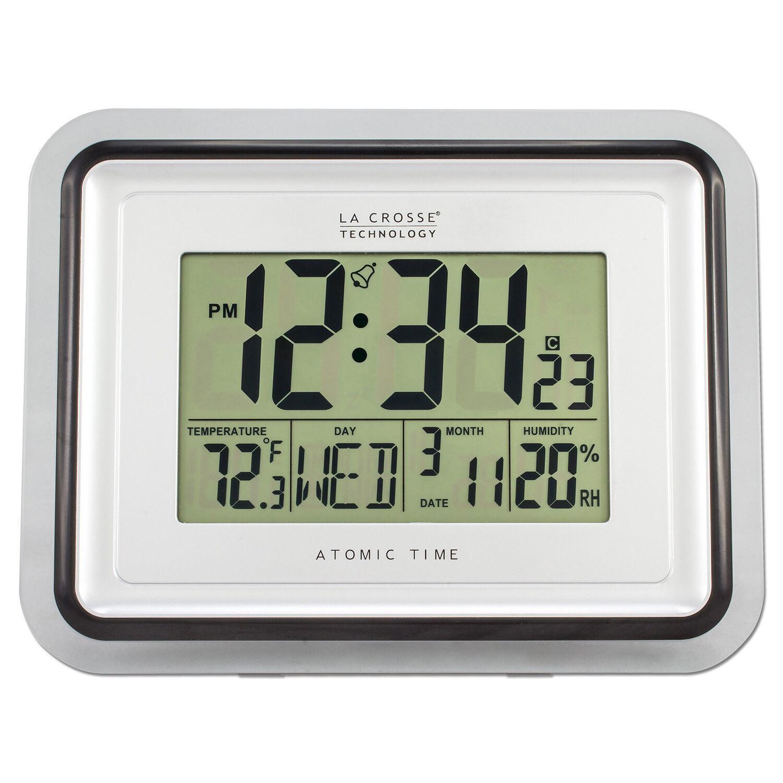 BBB87733 La Crosse Technology Digital Atomic Wall Clock Indo