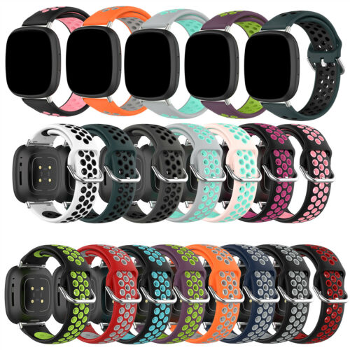 For Fitbit Versa 3 / Sense Soft Breathable Silicone Watch Band Wrist Sport Strap Jewelry & Watches