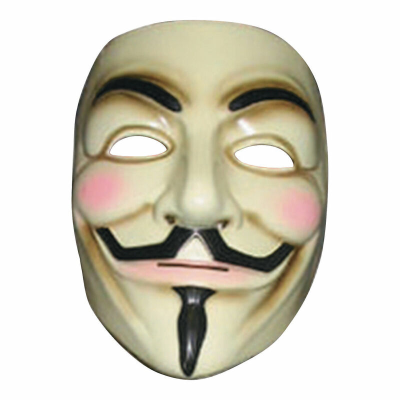 Adult V For Vendetta Mask - Apparel Accessories - 1 Piece