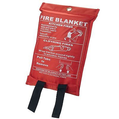 Large Fire Blanket 1m x 1m Safety Quick Release Home Kitchen Office Caravan