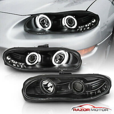 [Dual CCFL Halo] 1998 1999 2000 2001 2002 Chevy Camaro Projector Headlights Pair