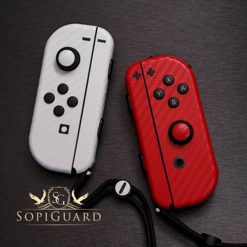 SopiGuard 3M Avery Carbon Fiber Brushed Skin Wrap for Nintendo Switch Joy-Con