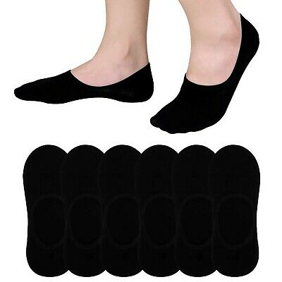 6-Pack Black No Show Socks Men Size 6-10 Cotton Athletic Low Cut Sock Best
