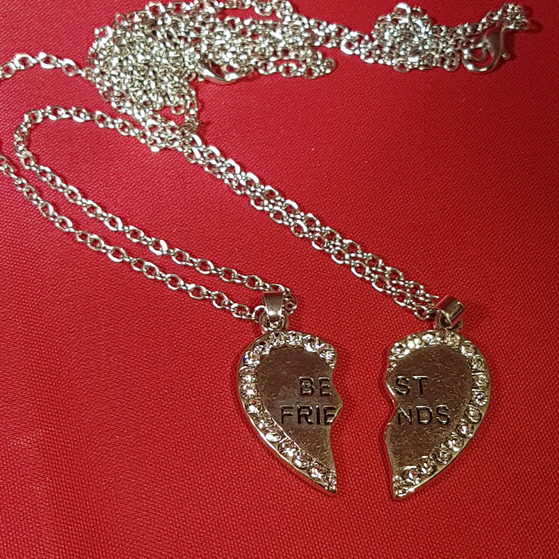 Heart Bff Friendship Pendant Necklaces