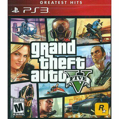 Grand Theft Auto V (Playstation 3) New Sealed gta5 gta gat 5 ps3 ps2 ps4