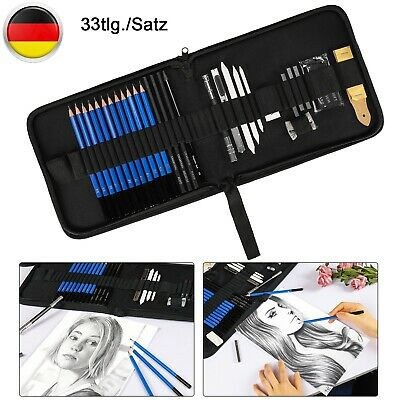 33-tlg Skizzierstifte Set Zeichenset Bleistifte Zeichnen Skizzieren Zeichenstift (Skizzieren Bleistifte)