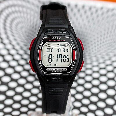 Casio LW-201-4AV Ladies Black Digital Watch 10 Year Battery Sport Dual Time -