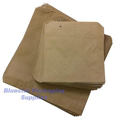 1000 x Kraft Brown Paper Food Bags Strung 12