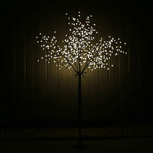 LED Baum 600 LEDs warmweiss Lichterbäumchen Kirschbaum Bäumchen Blüten 250cm