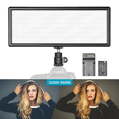 Neewer T120 Super Slim Bi-color Dimmable LED Video Light with Battery / Charger