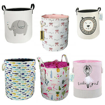 Clothing Storage Bucket Laundry Basket Holder Fabric Bag Household Toy Organizer