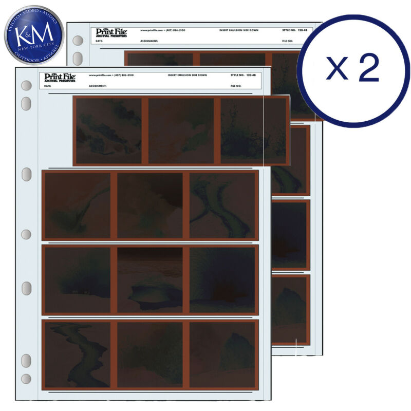Print File 120-4B Negative Preservers for 120 Film - 25 Packx2