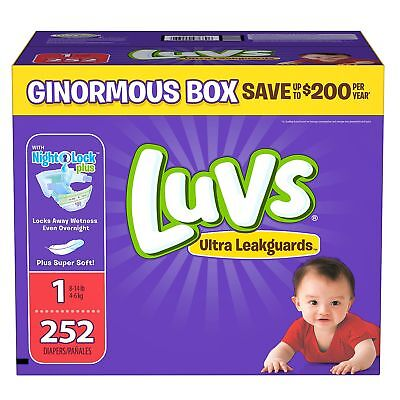 Luvs Ultra Leakguards Baby Diapers Size 1 2 3 4 5 6. Fast Free -
