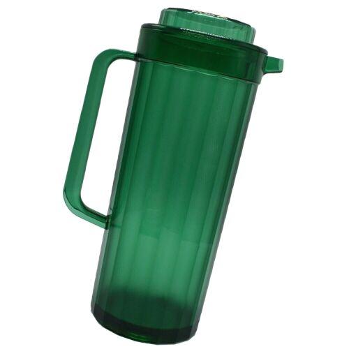 Tupperware Pitcher Acrylic Preludio Emerald Green Carafe #2003 2 Quart