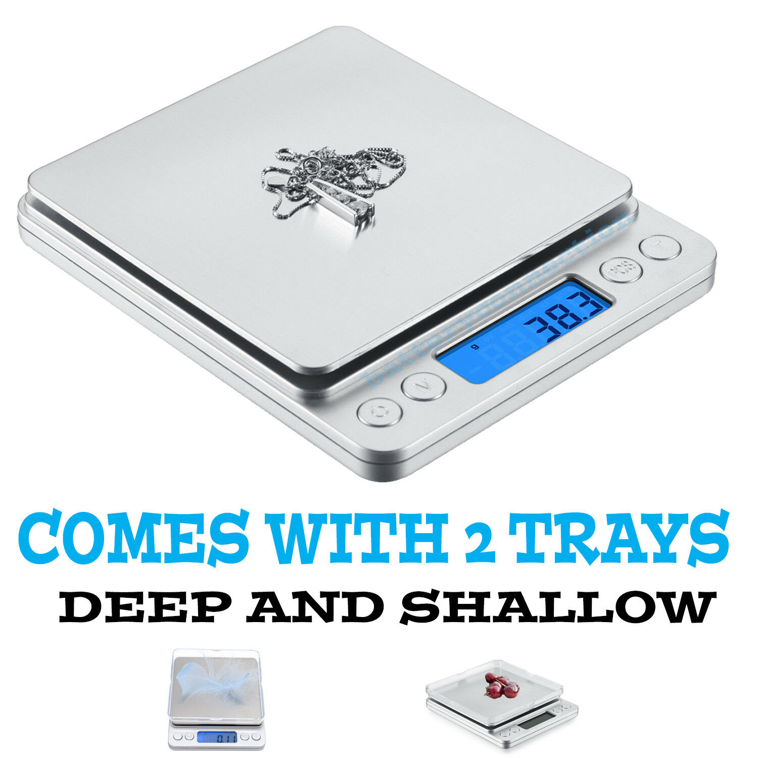 0.1gram precision jewelry electronic digital balance weight pocket scale 3000g Jewelry & Watches