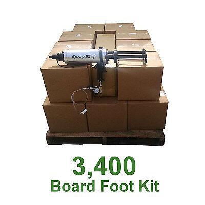 D I Y Spray Foam Insulation.5lb Open Cell Urethane Foam 3400 Board Foot Kit
