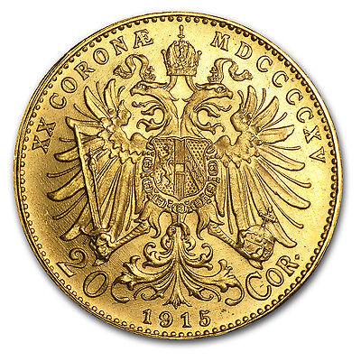 Austria 20 Corona Gold Coin - Random Year - SKU #12646