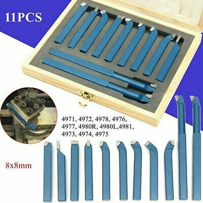 11 Pcs 8mm Metal Lathe Tools Knife Cutter Bits For Lathe Cutting Tool Turning