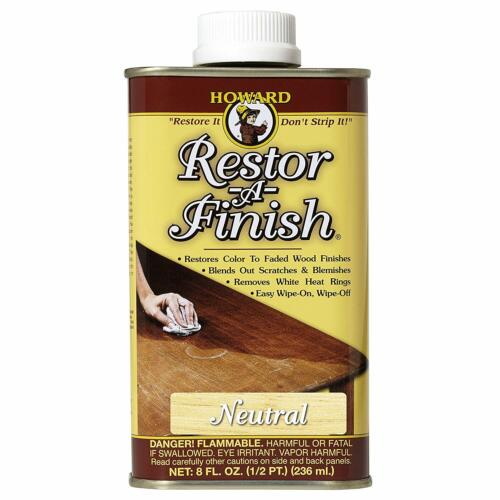 Howard Restor-A-Finish Neutral 8oz  NO STRIPPING Cleans and Restores