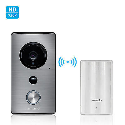 Zmodo WiFi Extender W/ 720p Wireless IR Audio Weatherproof Smart Doorbell