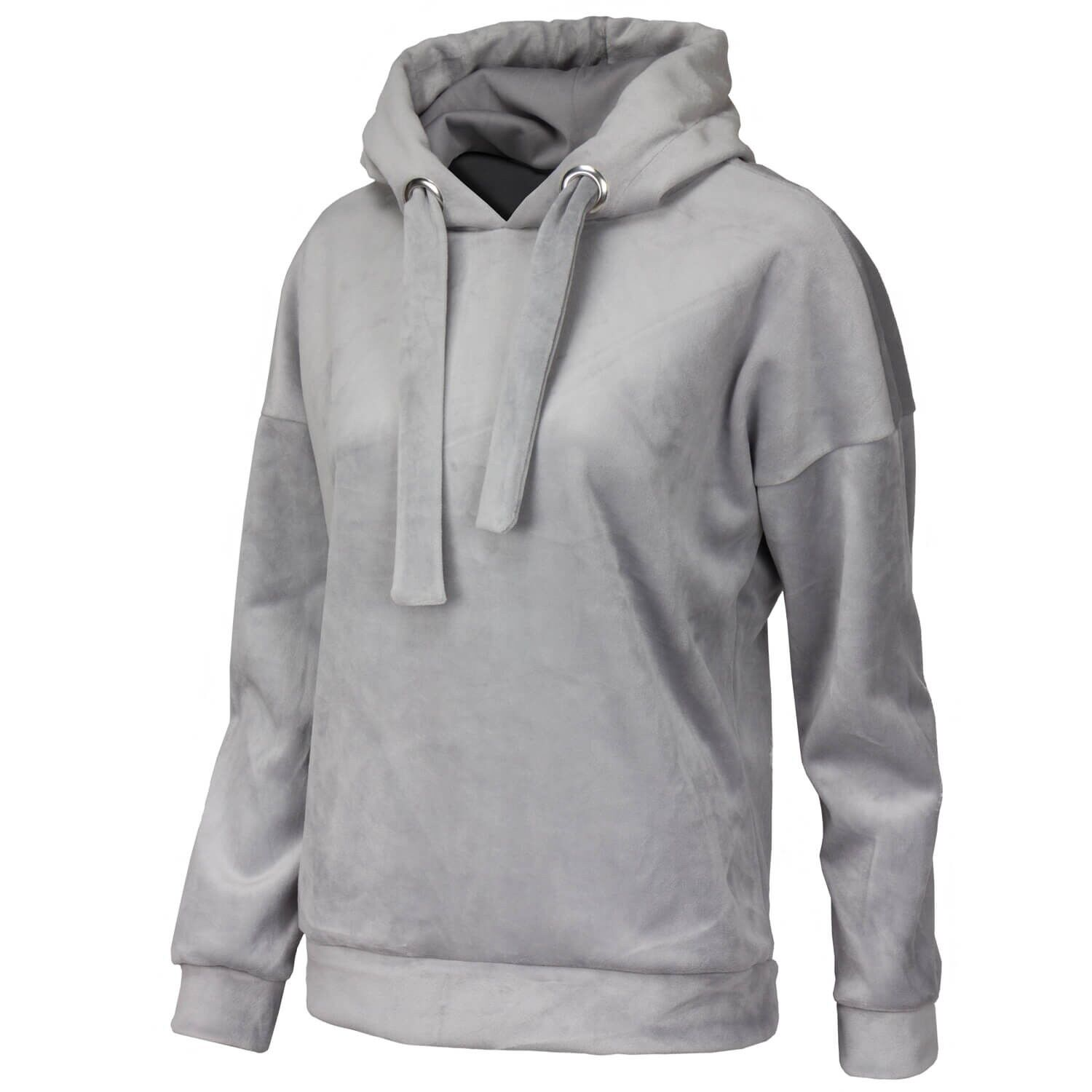 ONLY Damen Oversize Sweatshirt mit Kapuze Sweater Hoodie in Samtoptik onlSABEL