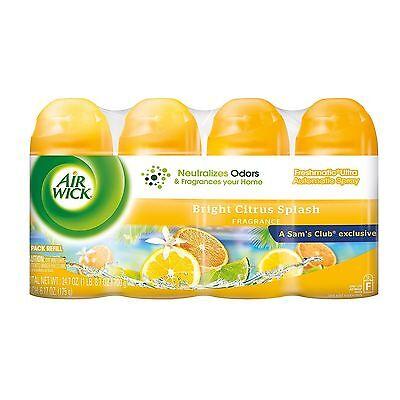4 Air Wick Freshmatic Ultra Automatic Spray Refill Bright Citrus Splash (1 Pack)