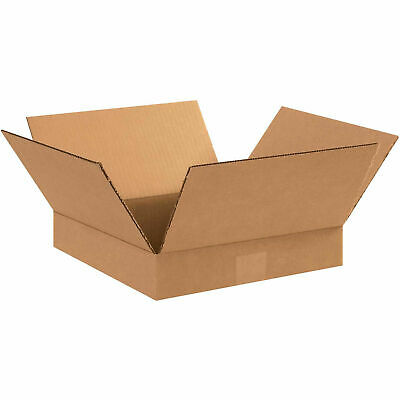 12 X 12 X 2 Cardboard Flat Corrugated Box 65 Lbs Capacity 200ect-32