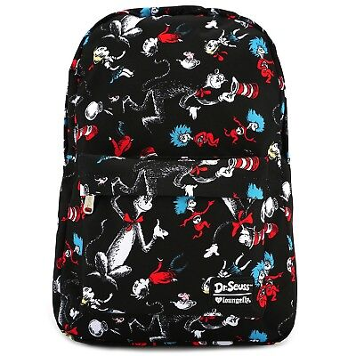 Loungefly Dr. Seuss Cat in the Hat Thing 1 and 2 Character Backpack DSSBK0009 (Thing 1 And Thing 2 Characters)